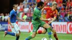 Gianluigi Buffon dispossesses Fernando Torres, Spain v Italy, Euro 2012, Arena Gdansk, June 10, 2012